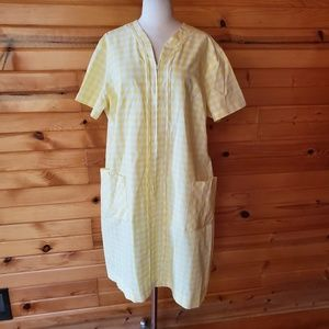 1960s Kay Whitney Zip Yellow & White Gingham House